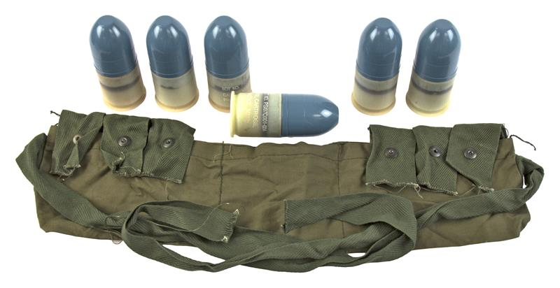 40mm Dummy Grenade & Bandoleer Set (Bandoleer Colors May Vary)