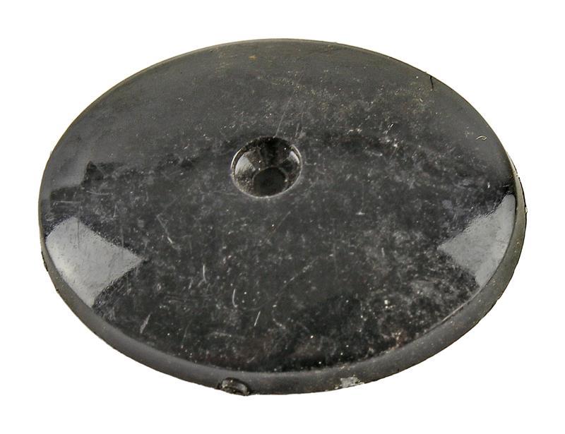 Grip Cap, Black Plastic (Plain Convex; Requires Screw # 438320)