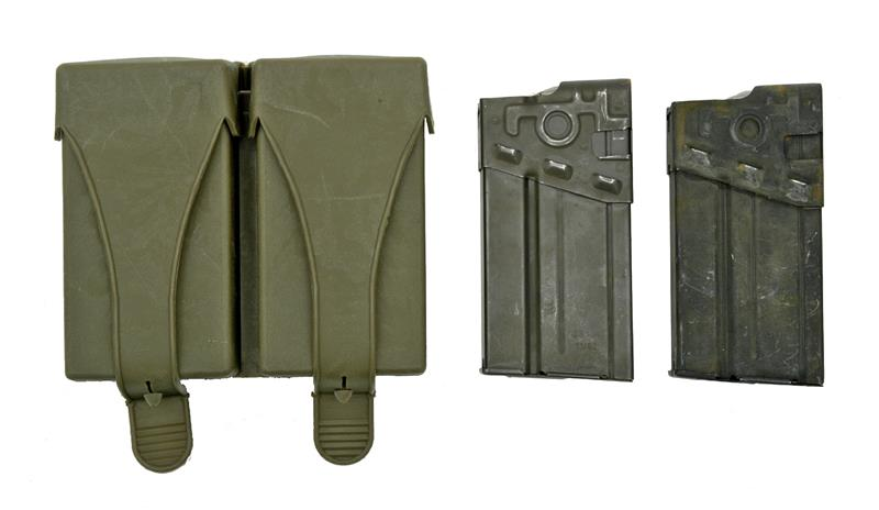 Magazine & Pouch Set (Incl 2 .308 Cal. 20 Round Steel Mags & 2 Pocket Pouch)