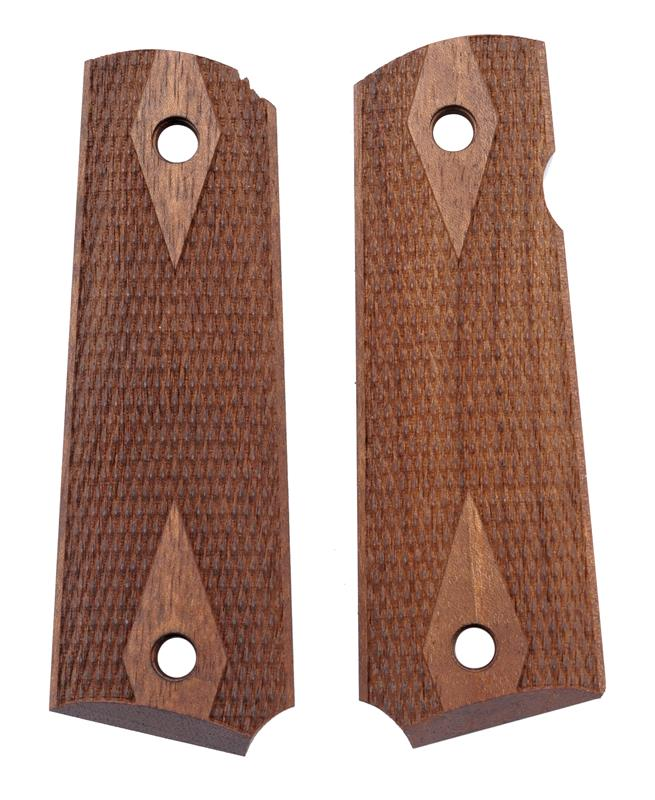 Grips, Walnut, Laser Checkered w/ Diamond Pattern & Border, New