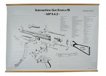 "MP5A2 Exploded View Chart, English (B/W, 37"" High x 46-1/2"" Wide)"