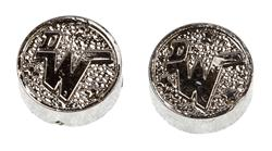 Dan Wesson Grip Medallion Set, Silver Plastic, New