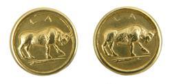 Hawes Buffalo Grip Medallion Set