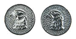 Falcon Head Grip Medallion Set, Silver