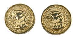 Falcon Head Grip Medallion Set, Gold