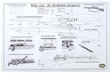 """1903A4 Sniper's Poster, B/W, 22"""" x 34"""""""