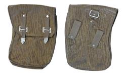 Pouch w/ Angled Belt Loops & D-Ring (Fair to Good w/ Dirt & Wear)