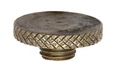 Oiler Cap w/o Dipper, Original, Nickel Plated Brass, Used