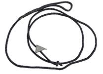 Lanyard w/ Clip, Black Nylon, East German, New