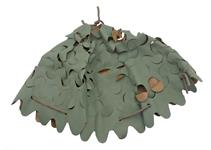 French Army Helmet Cover, Reversible, Green/Brown, w/ Drawstring, New