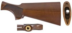 Stock, 12 Ga., Checkered Walnut, Satin Finish, Benelli Logo PG Inlay