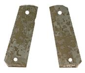 Grips, Full Size, Wood, Checkered, Digital Camo, New