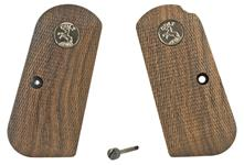 Grips, Walnut, Laser Cut-Checkered w/ Medallions, Grip Screw & Nut, Reproduction