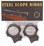 Scope Rings, Steel 30mm, Split, Medium, Matte Black, New Factory Original