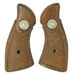 Grips, Service Square Butt, Walnut w/ Medallion, Used (Medallion Color May Vary)