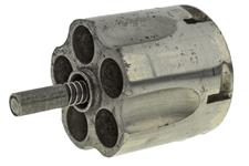 Cylinder Assembly, .38 Cal, 5 Shot, Nickel, Used, Original