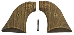 Grips, Walnut, Cut-Checkered w/ Buffalo Logo, Reproduction