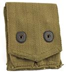 Magazine Pouch, 2 Pkt, WWI U.S. Surplus, Mint Condition, Marked Russell, Khaki