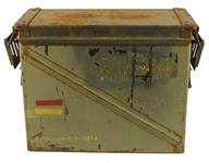 Ammo Can, 20mm - XM168 MG, US Military Surplus, OD Steel, Used Good Condition