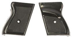 Grips, Ekol Major, 9mm Blank, Black Checkered Plastic w/RH Thumbrest, Used Orig