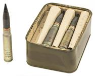 30mm Russian Inert Drill Rounds, Case of 18 Rounds