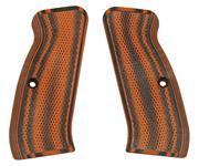 Grips, Carbon Fiber, Checkered, Orange/Black, Used VZ Mfg.