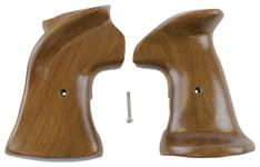 Grips, LH, Large Frame, Target, Smooth Walnut, New (w/ Thumbrest; Jay Scott)
