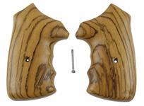 Grips, Square Butt, Gunfighter Style, Over Sized, Zebra Wood, New Jay Scott