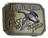 """Belt Buckle, First in the Field, Canada Goose, Fits Belts Up To 1 3/4"""", Used Factory"""