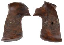 Grips, Fitz Ten-O, Target, Square Butt, Brown Checkered Plastic, Used Factory