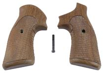 Grips, Square Butt, Target, Wraparound Front, Cut Checkered Walnut