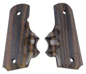 Grips, Extended Finger Grooves, Scalloped Wood, Reproduction
