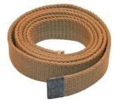 Belt, Canvas, Used -US Surplus Khaki Colored Belt w/o Buckle, 1'' Wide x 41 Long