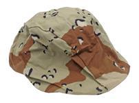 Helmet Cover For GI Kevlar Helmets, Desert Pattern-Size Med/Lg, New Mil Surplus